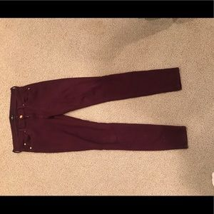 7 for all mankind red jeans